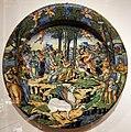 Romagna o marche, piatto con apollo e le muse sul monte parnaso, 1550-80 ca.jpg