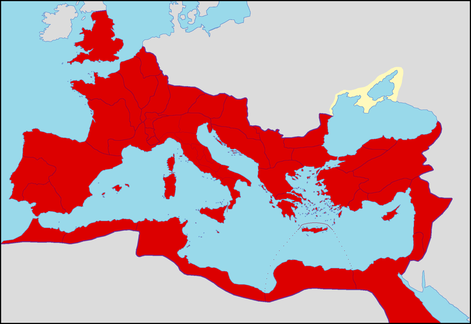 Roman Empire in 96 AD