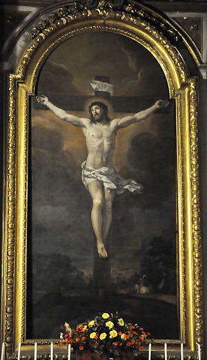 Santa Maria dell'Orazione e Morte - Crucifixion by Ciro Ferri.