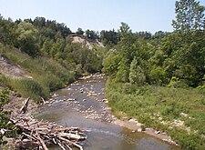 Rouge River at Kirkhams Road Toronto.jpg