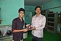 Rounik Ghosh Receives Prize From Jayanta Nath - Wikimedia Meetup - AMPS - Kolkata 2017-04-23 6927.jpg