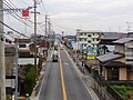 Route 203 Karatsu kaido from footbridge at front of Haruda primary school.jpg