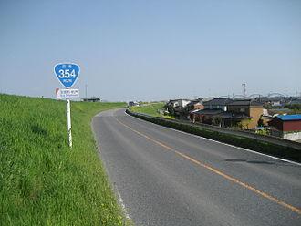 Japan National Route 354 - Image: Route 354 Saitama prefecture Kazo city