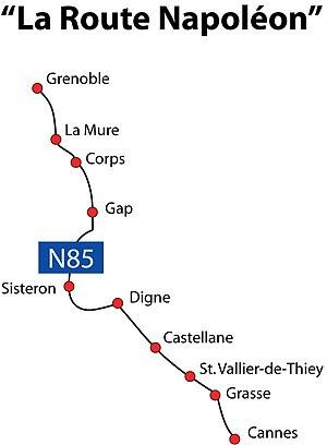 Route Napoléon - The Route Napoléon