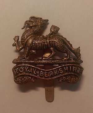 Royal Berkshire Regiment - Cap badge of the Royal Berkshire Regiment.