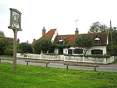 Roydon, The Church House and the village sign - geograph.org.uk - 268690.jpg