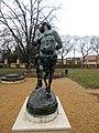 Rudnyánszky mansion. Garden. Statue of Centaur in love, SW. - Budapest.JPG