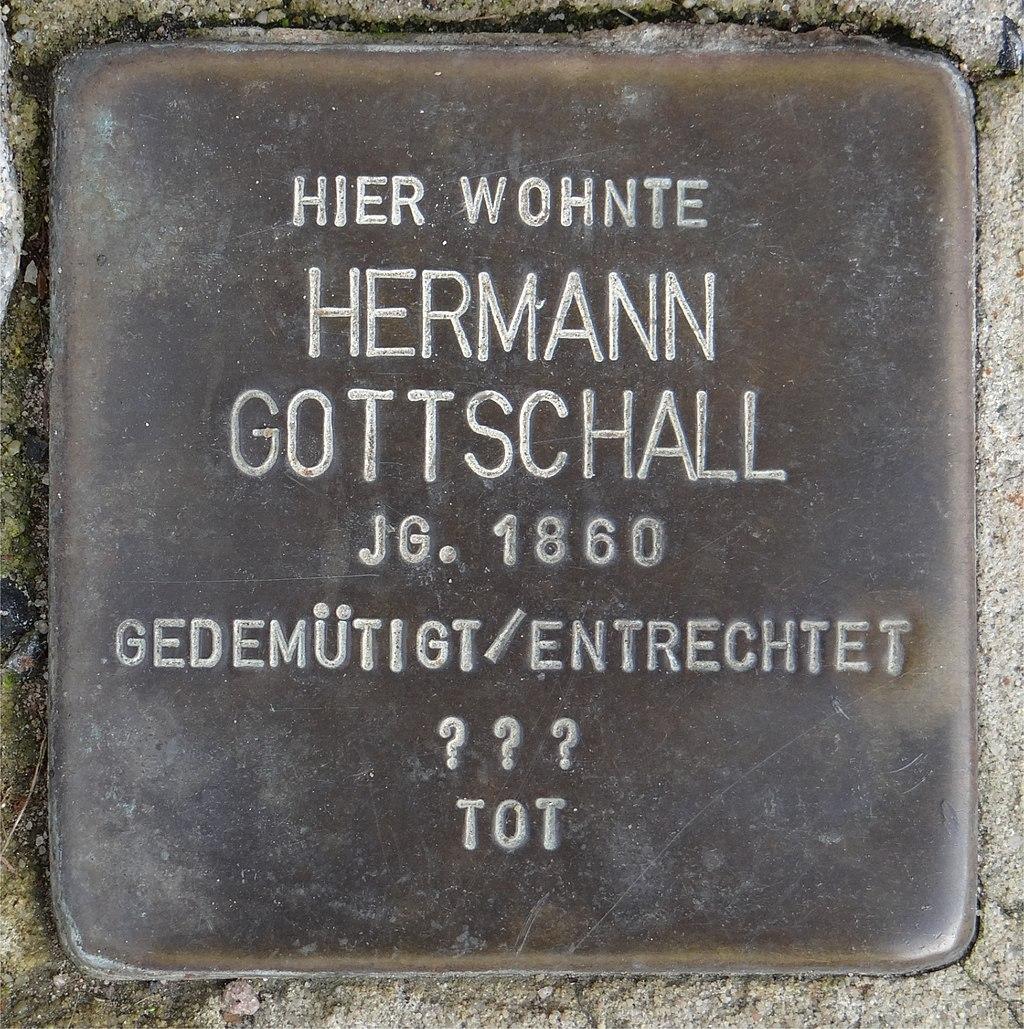 Ruesselsheim am Main Stolperstein Schäfergasse 20 Hermann Gottschall.jpg