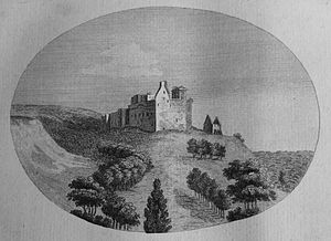 Crichton Castle - The castle ruins in the late 18th century