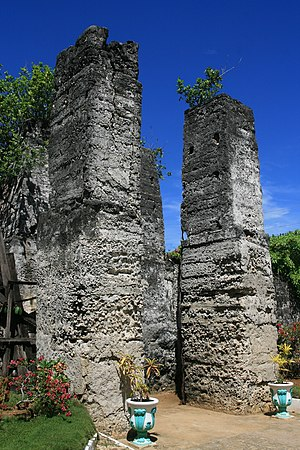 Madridejos, Cebu - Ruins of Kota at Madridejos founded in 1790
