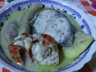 Run down Typical Caribbean dish made with coconut milk and seafood