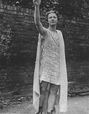 Rupert Brooke posing as Comus.