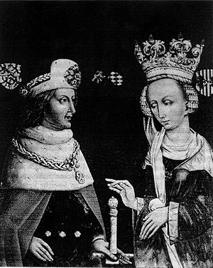 Rupert II, Elector Palatine - Rupert with his wife Beatrice