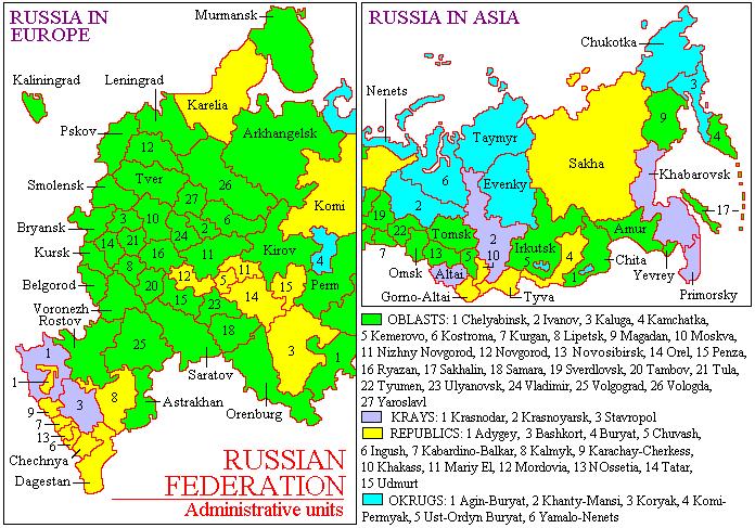 Russia-Subdivisions