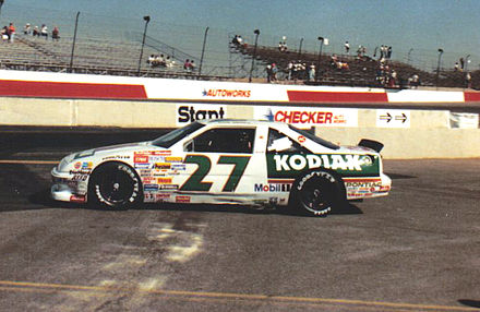 1989 car at Phoenix with Kodiak paint scheme RustyWallace27car1989.jpg