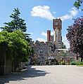 Ruthin Castle Clock Tower (14511089698).jpg