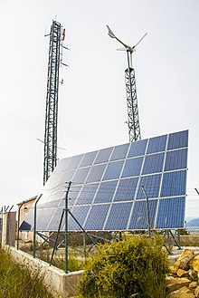 Ryse Energy Small Wind Turbine & Solar PV on a telecom tower