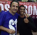 Sãnnchyllys Oliveira com o Pastor Silas Malafaia na ADVEC no Rio de Janeiro em 2013.JPG