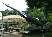 S-75 Dvina with V-750V 1D missile on a launcher. An installation similar to this one shot down Major Anderson's U-2 over Cuba.