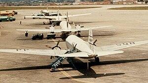 Saab 90 Scandia - VASP Scandia PP-SQN (nearest) at São Paulo Congonhas airport in 1965