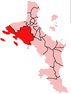 Port Glaud District in Seychelles