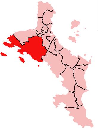 Port Glaud - Location of Port Glaud District on Mahé Island, Seychelles