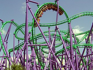 The Jokers Jinx Steel roller coaster at Six Flags America