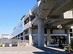 SFO station from ground level, July 2018.JPG