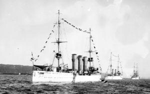 SMS Dresden (1907) - Image: SMS Dresden German Cruiser LOC 04281