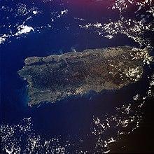 Immagine satellitare di Porto Rico (NASA)