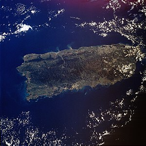 Geography of Puerto Rico - Satellite photo of Puerto Rico