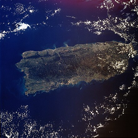 Puerto Rico, sometimes called the world's oldest colony. STS034-76-88.jpg