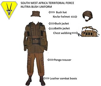 South West Africa Territorial Force - SWATF Nutria bush fieldwear
