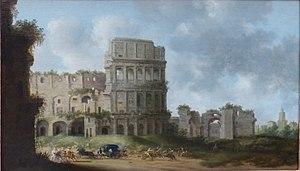 Self-portrait with the Colosseum - Image: Saenredam Colosseum