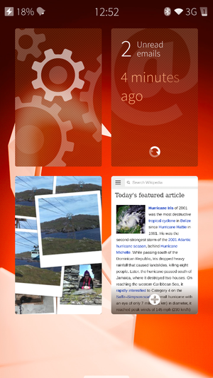 Sailfish OS - Image: Sailfish OS Screenshot 1