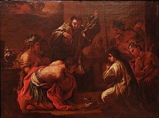 Saint François Xavier baptisant les indiens