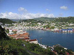 St. George's, the capital of Grenada.