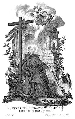 Saint Ignatius of Loyola. Engraving by C. Klauber. Wellcome M0005653