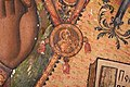 Saint Nicholas Icon by Dicho Zograf in Saint Kyriaki Church in Debrene, 1844 - Detail 2.jpg