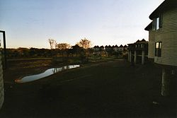 Salt Lick Lodge in the evening
