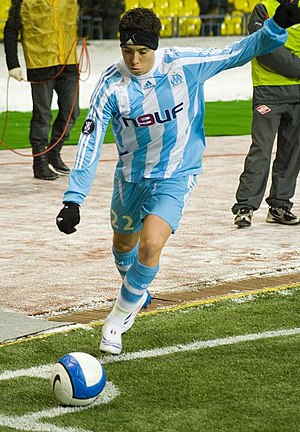 Samir Nasri - Nasri taking a corner during his time with Marseille.