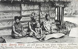 Samoans - A Samoan family, circa 1909