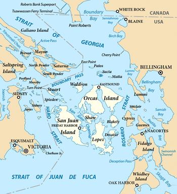 Where Is San Juan Islands In Washington On A Map