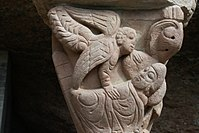 Capital of the cloister: the angel appears to Joseph in a dream