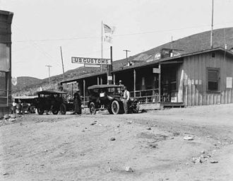 San Diego–Tijuana - San Ysidro Border Inspection Station in 1922