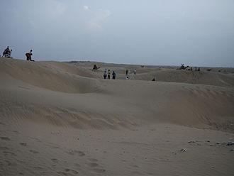 Jaisalmer - Sand dunes near Jaisalmer.