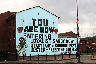 Ulster Defence Association - A UFF mural in the Sandy Row area of South Belfast