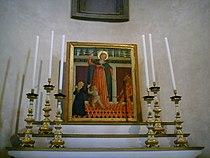 Santo spirito, cappella velluti, domenico di zanobi, madonna del soccorso, ante 1485.JPG