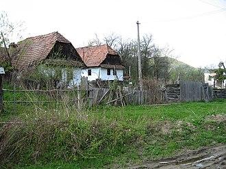 Albești, Mureș - Image: Sapartoc houses