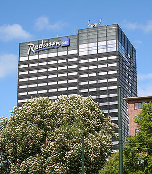 SAS Group - Radisson hotel in Oslo no longer managed by SAS as of 2009. (This picture was taken in May 2005.)